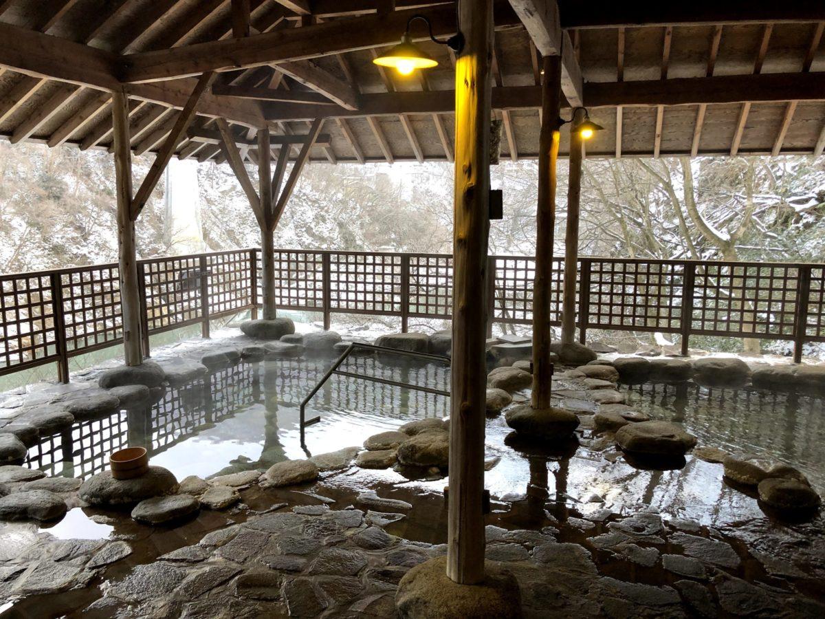 福島県大川荘の温泉