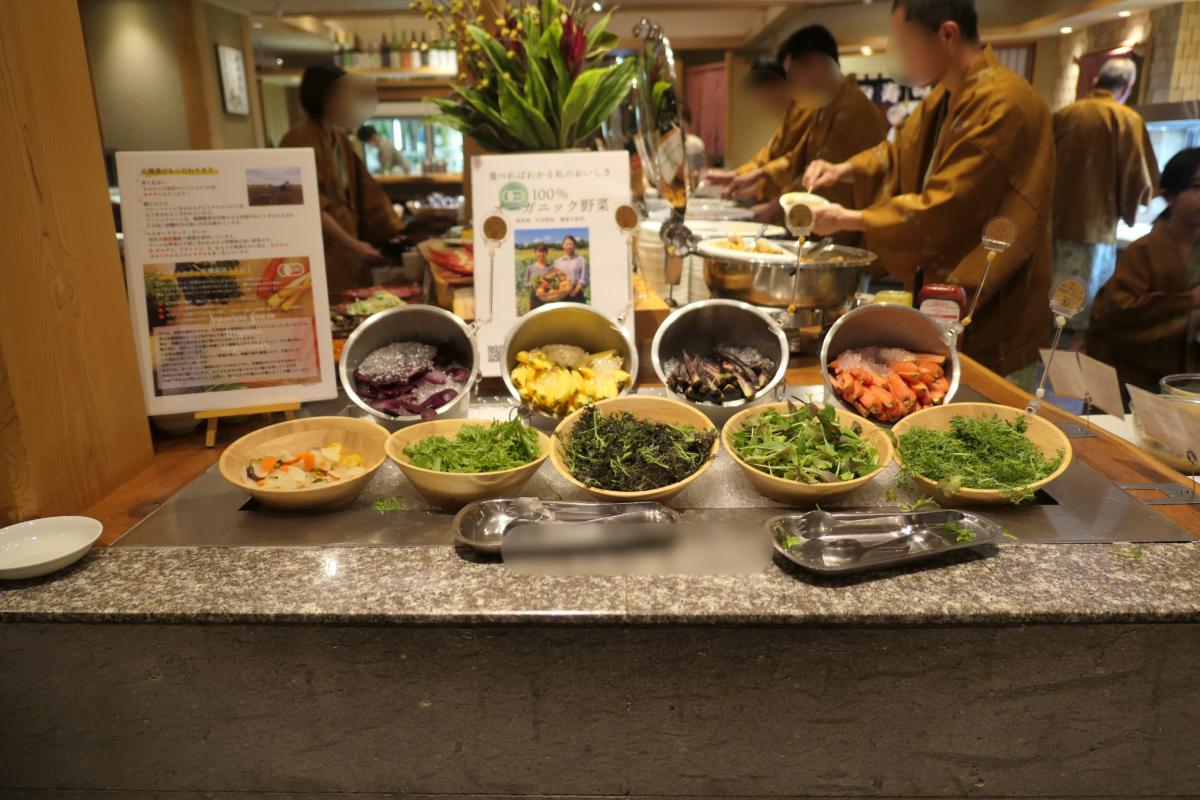 大川荘のディナーはビュッフェ&レストラン(かわもの厨)